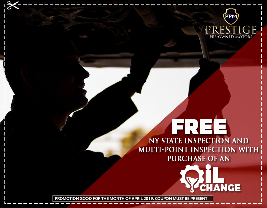 Free NY State Inspection and Multi-point Inspection with purchase of an oil change